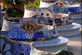 Park Guell by Gaudi is popular for its fanatasy like curves which inspire innovation and outside the box thinking for entrepreneurs